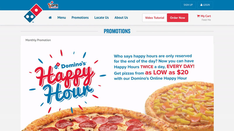 Domino's Pizza Singapore Microsite